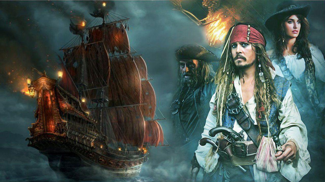 пираты карибского моря джек воробей море природа остров песок лодка вода  № 1386198 бесплатно