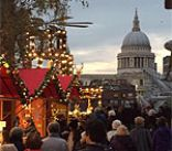 London's Christmas Market outside Tate Modern