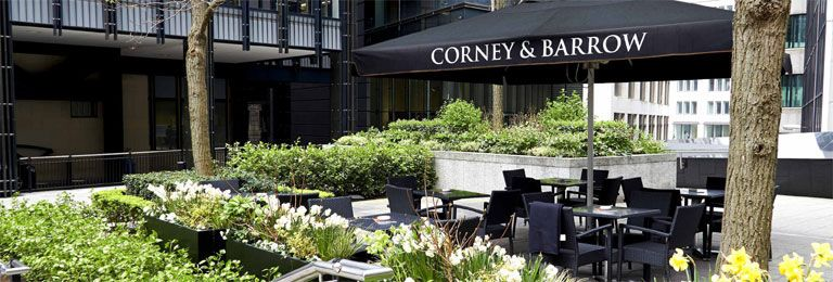 Corney and Barrow at Fleet Place